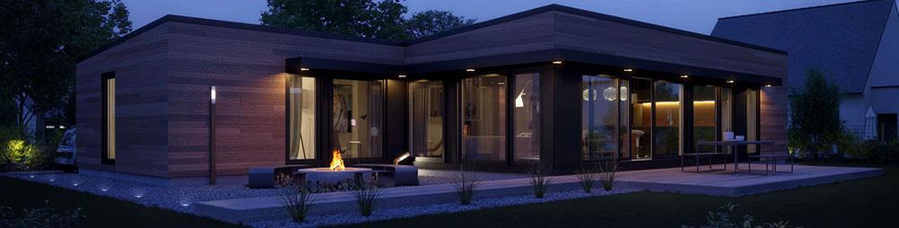 Salon de maison en bois